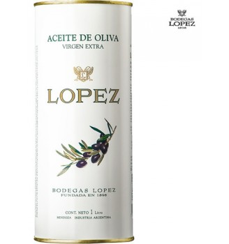 LOPEZ ACEITE DE OLIVA EXTRA VIRGEN LATA  1000CC