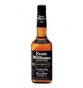 EVAN WILLIAMS BLACK BOURBON WHISKY 43°  750CC