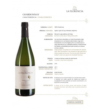 FINCA LA FLORENCIA CHARDONNAY - VIOGNIER 750CC
