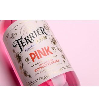 TERRIER PINK FLOR DE HIBISCUS GIN 40,5% Alc. 375CC